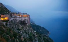 Simonos Petras Monastery - Mount Athos, Halkidiki, Macedonia, Greece