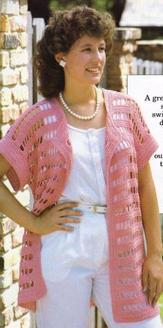 Crochet Pink Coverup Top- Crochet Summer/spring Tunic Top-PDF Download-One size fits all