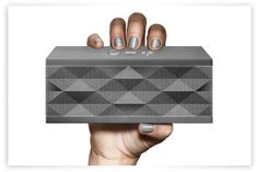 Small box, big music via Bluetooth from my phone. I love using this during my weekly business meetings.
