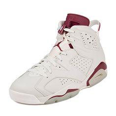 Nike Air Jordan Mens 6 Retro Basketball Shoe Off WhiteNew Maroon Size 10 * Visit the image link more details.