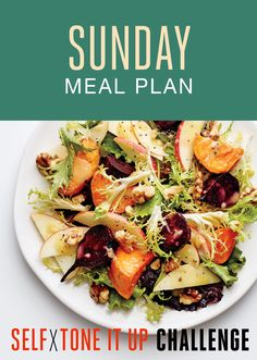 Self x Tone It Up Challenge – Sunday Recipes - Beet, Apple, and Frisée Salad
