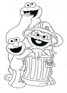 Free Sesame Street Coloring Printables Baby PagesKids