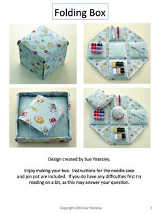 A detailed instruction manual to create your own beautiful Etui folding sewing box, pin pot and cushion and needle case. Instructions are in digital PDF format, (I do have an alternative hard copy option in this shop) and have colour images and written instructions to follow. I tried so hard to find instructions for my first folding box that I created these myself. I am sure you will have as much fun making yours as I did.  Shown in image is title page and page 3 of the instruction.  The…
