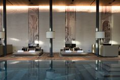 The indoor pool lounges at The Chedi Andermatt. #Switzerland