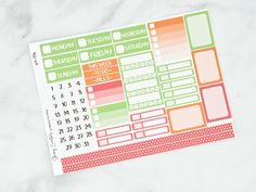 November 2020 Thanksgiving Weekly Planner Kits - A - individual days