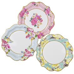 Party Ark's 'Truly Scrumptious Pretty Plates 21.5cm'