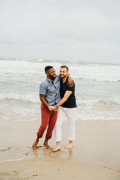 same sex engagement session Engagement Outfits, Engagement Shoots, Couple Photography, Engagement Photography, Couple Posing, Couple Photos, Outer Banks North Carolina, Adventure Couple, Art Poses