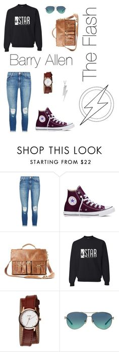 Barry Allen: The Flash by sweetsassyandsarcastic ❤ liked on Polyvore featuring J Brand, Converse, Rawlings, Nixon, Tiffany  Co. and Black Pearl