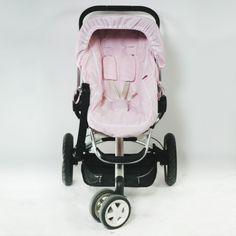Forra carrinho de passeio Promoção 4 peças riscas rosa