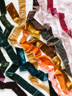 hand dyed silk velvet ribbon feels light and drapable, This ribbon is perfect for vintage styling wedding details, florals, projects, bridal bouquet ribbon. Floral Ribbon, Diy Ribbon, Ribbon Bouquet, Or Noir, Passementerie, Look Vintage, Velvet Ribbon, Diy Wedding, Ribbon Wedding