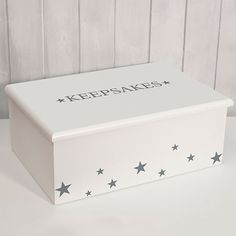 Save all your special memories in a beautiful keepsake box available from our gorgeous new designer KEEPSAKE BOXES