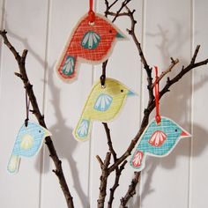 These would be cute decorations to try & make for after Christmas!