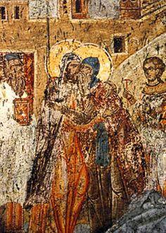 Сусрет Саве и Немање у манастиру Ватопед