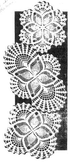 doily download vintage crochet pattern 2 pineapple doily motif ebay ...