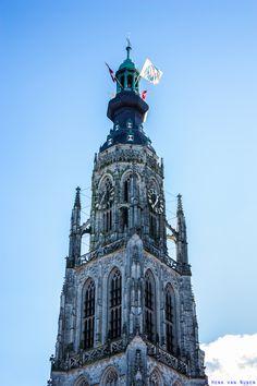 Breda. Grote Toren van de Onze Lieve Vrouwe Kerk. Empire State Building, Notre Dame, Holland, Dutch, Medieval, Windows, Architecture, Cathedrals, Travel