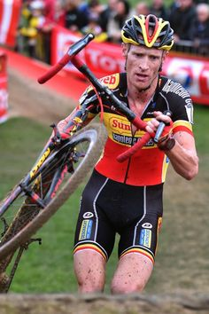Klaas Vantornout (in action at Ruddervoorde) Cyclists, Athletes, Mud, Champion, Bicycle, Racing, Action, Sports, Collection