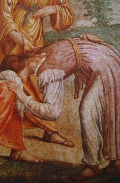 1509-1514 or 1520-23, Detail of a fresco, Bernardino Luini (Pinacoteca di Brera). Interesting sleeves.