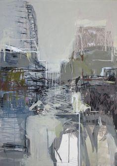 Delphine de Luppé Abstract Landscape, Abstract Art, Alex Katz, Matte Painting, Cityscapes, Contemporary Paintings, 21st Century, Cities, Buildings