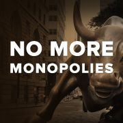"""""""Monopolies have become a big prob in the US who only has 4 big airlines. Just 2 companies sell 70% of the cntless types of toothpaste. There are only 3 big health insur cmpies, 4 big cable & internet congloms, 5 big book pubs, & new firms like Google & Amazon using their mrkt pwr to squeeze out competitors. Concentrated mrkts like these depress wages & raise prices, leaving us all worse off."""" Click f/details & SIGN/share petition to tell the Sen Judiciary Cmittee: Get tough on monopolies."""