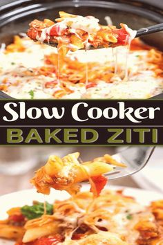 #Easy #crockpot #recipes #cheese #slowcookerrecipes slowcookerrecipes zitirecipes slowcooker weeknight bakedziti goodness crockpot marinara flavour noodles recipe cooker tender coated cheese This Slow Cooker Baked Ziti is an easy crockpot recipe that packs all the flavour With tender noodYou can find Easy crockpot recipes and more on our website Dinner Recipes Easy Quick, Healthy Pasta Recipes, Easy Healthy Dinners, Quick Easy Meals, Dinner Healthy, Recipes Dinner, Slow Cooker Baked Ziti, Slow Cooker Chili, Cooker Recipes