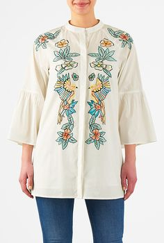 8218e703f1f65 Danae Laser Cut Out Cold Shoulder Top. francesca s® · Tops · Embellished  flounce sleeve cambric top  eShakti Tied Shirt
