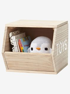 Cube de rangement Toys bois - Fini le désordre avec ce cube de rangement qui accueillera les peluches et jouets préférés de votre petit !  www.vertbaudet.fr - Collection Printemps-Eté 2017