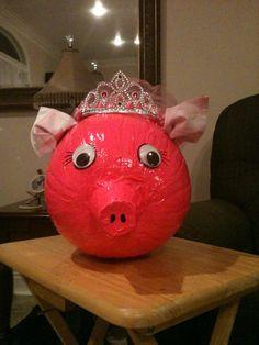 Princess pig pumpkin
