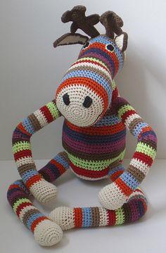 Amigurumi Reindeer. Gorgeous!  Anne Claire Petit Hand Crochet Reindeer