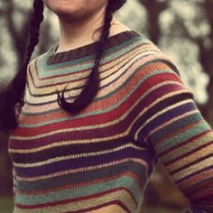 Milano tunic. Carol Sunday's lovely yarn pattern mashed up with seamless yoke construction