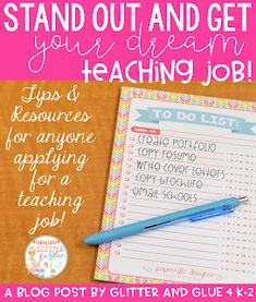 Glitter and Glue 4 K-2: 5 Tips to Stand out and Get Your Dream Teaching Job!