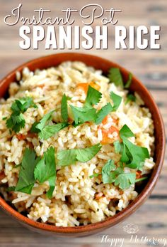 Are you obsessed with Instant Pot recipes? This Instant Pot Spanish Rice recipe is super easy to make and goes well as a side dish with a variety of meals.