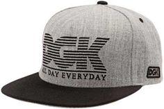 DGK City Snapback Hat - Grey/Black