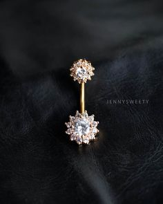 CZ belly ring, flower belly button ring, belly piercing, belly jewelry, lotus unique navel ring gold by JennySweety on Etsy https://www.etsy.com/listing/247761308/cz-belly-ring-flower-belly-button-ring