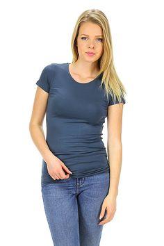 Majestic filatures - T-Shirts - Abbigliamento - T-Shirt in viscosa elasticizzata con girocollo e manica corta.La nostra modella indossa la taglia /EU S. - 174 - € 75.00