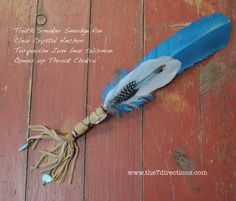 Smudge fan OOAK handmade feather crystal Truth by The7Directions