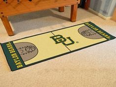 Baylor University Basketball Court Runner 30x72