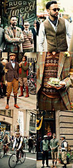 #UK Tweed Run Fashion - boys get your tweed on!!!
