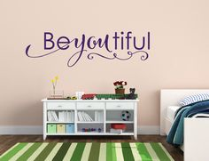 A personal favorite from my Etsy shop https://www.etsy.com/listing/190765125/baby-girl-nursery-wall-decal-beautiful