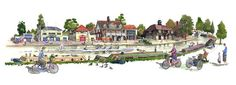 My #painting of the #Cambridge #university boat houses.