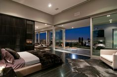 bedroom balcony decorating with black and white theme by Marc Canadell