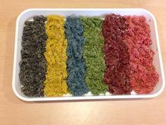 Quinoa Rainbow Messy Play!