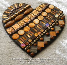 Mosaic Heart - Autumn -https://www.facebook.com/groups/TayamaCrafts/