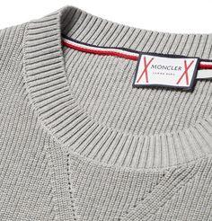 Moncler Gamme Bleu Chevron Cotton Sweater