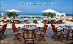 我们私人海滩俱乐部的餐厅会帮助您满足在海滩吃早饭的梦想