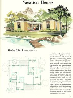 220 best vintage house plans 1960s images vintage house plans rh pinterest com