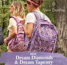 Diamond Dreams, Vera Bradley Backpack, Beautiful Bags, Stylish, Pattern, Shopping, Fashion, Moda, Fashion Styles
