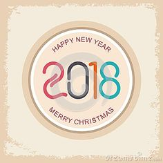 happy new year 2018 text design stock vector illustration of board background 100464391