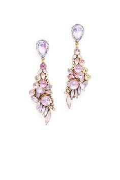 Purple Schism Earrings by Erickson Beamon.