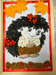 ВКонтакте Autumn Crafts, Fall Crafts For Kids, Nature Crafts, Diy For Kids, Diy And Crafts, Arts And Crafts, Paper Crafts, Leaf Projects, Art Projects