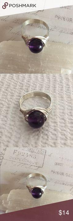 Kunzite Gemstone Silver Artisan Wire Wrapped Custom Size Handmade Ring